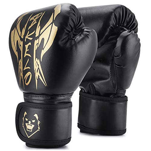 Kids Boxing Gloves, Sparring Gloves for Kids 3-15, Youth Training Gloves with Junior Punch PU Leather, Kids Boxing…