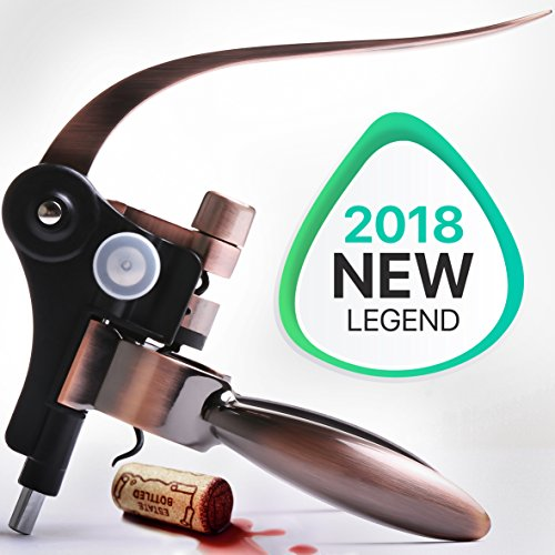 - Wine Opener - Wine Accessories - Rabitt Wine Bottle Opener - Wine Corkscrew - The Best Wine Tool Kit For Women - Large Manual Wine Set For Men - Lever Cork Opener
