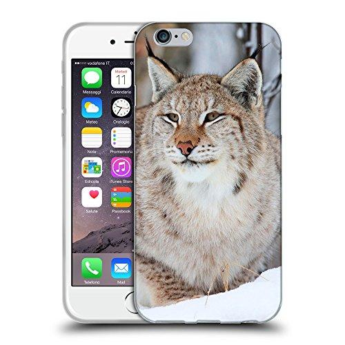 """Just Phone Cases Coque de Protection TPU Silicone Case pour // V00004146 Sauvage lynx des animaux dans la neige // Apple iPhone 6 4.7"""""""