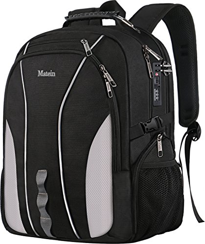 (Travel Laptop Backpack, Large Business Backpack with TSA Lock for Men Women, Water Resistant College School Computer Bag w/USB Charging Port, Anti Theft Big Student Bagpacks Fits 17 inch Notebook)