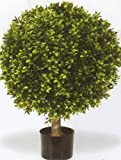 One 32 Inch Outdoor Artificial Boxwood Ball Topiary Bush Potted Uv Plant
