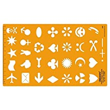 Unicode Symbols Pattern Design Template Drafting Stencil Technical Drawing Scale