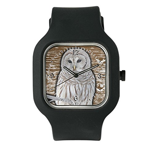 Black Fashion Sport Watch Snow Owl by Royal Lion