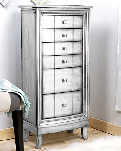 Hives and Honey 'SASHA' Jewelry Armoire, Silver by Hives and Honey