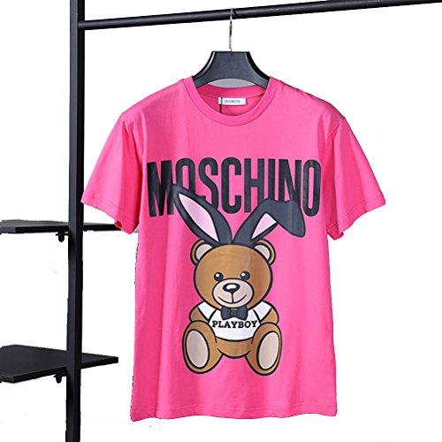 追記多くの危険がある状況長いですMoschino(モスキーノ) 小熊可愛いプリントカジュアル半袖Tシャツ男女兼用