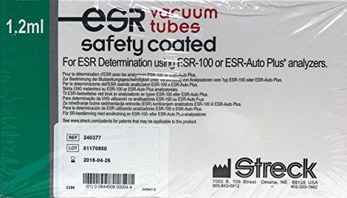 Streck 1.2 ml ESR Vacuum Tubes