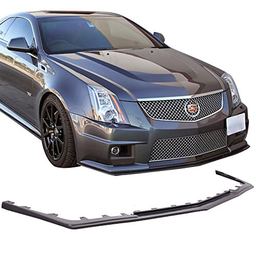 Fits 2009-2014 Cadillac CTS V Sedan H Style Front Bumper Valance Spoiler Lip PU