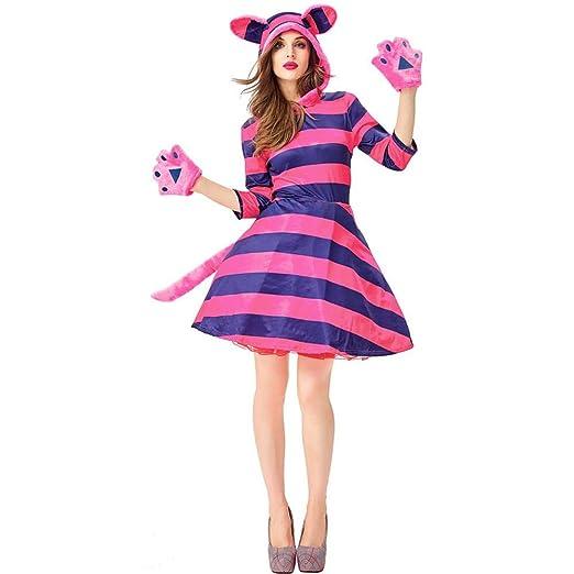 COSPLAYYL Halloween Animal Cosplay Traje del Gato Lindo Rayas De ...