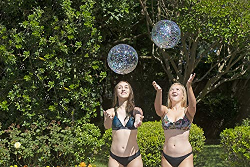- Poolmaster 81110 16-Inch Silver Glitter Swimming Pool and Beach Ball, 2 Pack
