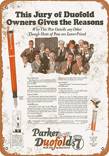 FDerks 8 x 12 Metal Sign - 1925 Parker Pens - Vintage Look Reproduction