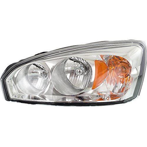 Headlight Compatible with Chevy Malibu 04-08 LH Composite Assembly Halogen w/Bulb(s) Driver Side