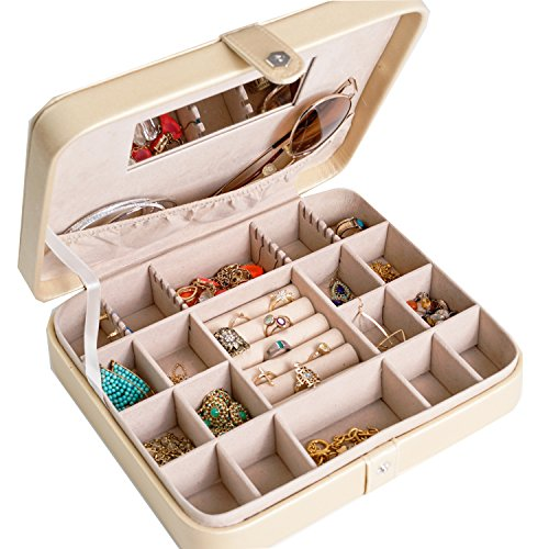 Hives and Honey Travel Jewelry Case Metallic Gold