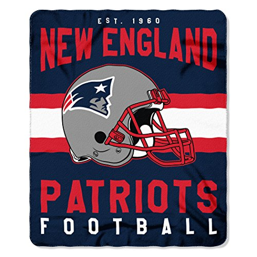 The Northwest Company NFL New England Patriots Singular 50-inch by 60-inch Printed Fleece Throw (Blanket New Patriots England Fleece)