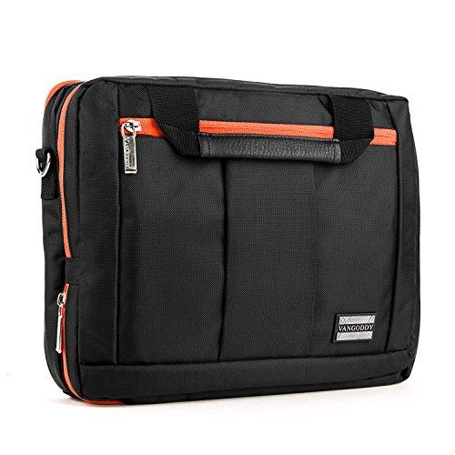 Messanger Shoulder 3 in 1 Laptop Orange Bag for Acer Aspire V Nitro and Aspire 7 by Vangoddy