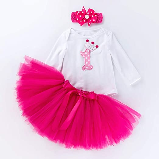 W&TT Bebé bebés niñas 1er cumpleaños Impreso Princesa Vestido Mono ...