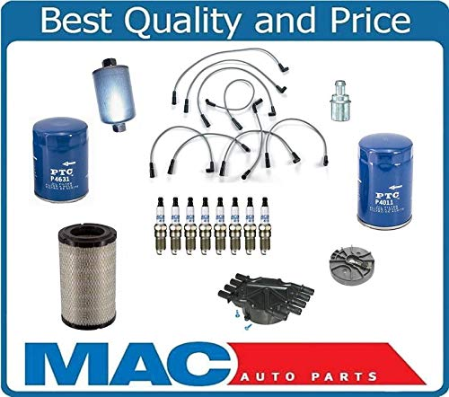 Brand New 14182 Brand New Ignition Wires Cap Rotor Air Oil Gas Filter Plugs For 96-99 Chevy Pick Up 5.0L 5.7L by Mac Auto Parts