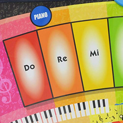 Depruies Kids Piano Musical Mats Music Dance Blanket Rainbow Piano Glowing Multifunctional Game Pad for Boys Girls Baby Early Education Toys by Depruies (Image #4)
