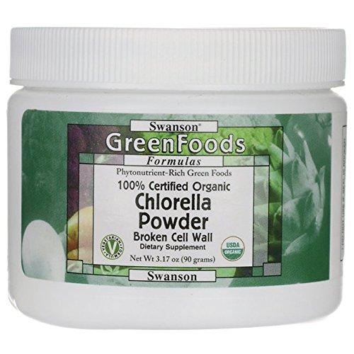 Swanson 100% Certified Organic Chlorella Powder 3.17 Ounce (90 g) Pwdr