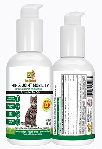 Pet Diesel Hip & Joint Liquid/Supplement For Cats By | Natural Vitamin Complex A & E, Fish Oil & Fatty Acids Formula For Young Or Older Cats (Cats, Hip and Joint) by Pet Diesel