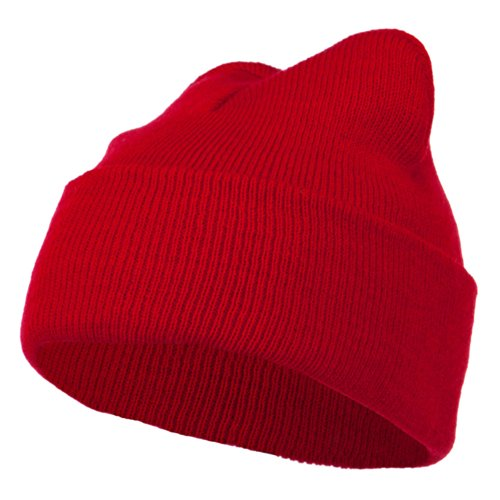 (Super Stretch Knit Watch Cap Beanie - Red)