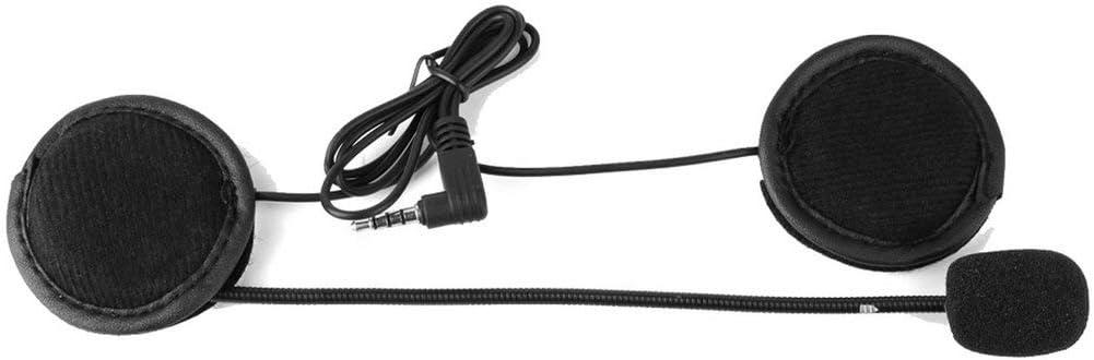 V6 Interphone Auricular Universal Casco Intercomunicador Clip para Dispositivo de Motocicleta Mazurr Micr/ófono Altavoz Auricular V4 Color: Clip Negro