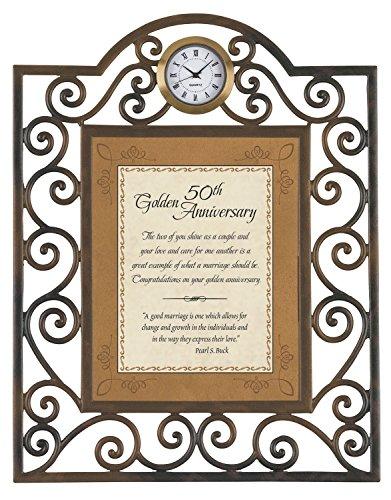 Faithworks 50th Anniversary Metal Framed Tabletop Clock, 7 x (50th Anniversary Clocks)