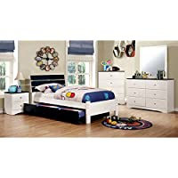 247SHOPATHOME Idf-7626BL-F-5PC Childrens-Bedroom-Sets, Full, White