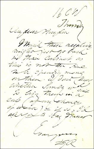 Dante Gabriel Rossetti Autograph Letter Signed