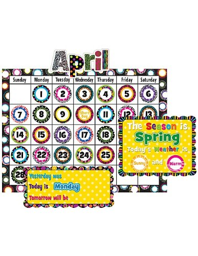 Teacher Created Resources Fancy Circles Calendar Bulletin Board (5205)