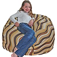 Ahh! Products Wavelength Latte Cotton Washable Large Bean Bag Chair