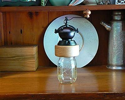 Mechanical Burr Coffee Grinder on a canning jar