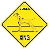 Vizsla Xing caution Crossing Sign dog Gift