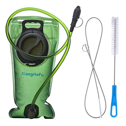 Kit Hydration Pack (Water Hydration Bladder Pack & Cleaning Kit,2 Liters,Tasteless,Wide-Opening,Leakproof Water Reservoir by XiangHeFu for Hiking Camping Backpack Bicycling)