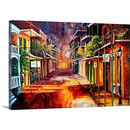 - Twilight in New Orleans Canvas Wall Art Print, 48