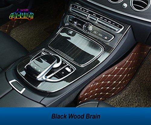 carEditor Mercedes Benz Center Console Control Gear Cover for New E Class W213 S213 E200 E220 E300 E350 2016 2017 2018 Panel Trim Interior Decoration Frame (Black Wood ()