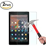[2-Pack] Fire HD 10 Screen Protector, Fotech Tempered Glass Screen Protector for Fire HD 10 with [9H Hardness] [Crystal Clear] [Anti-Scratch] [Bubble Free]