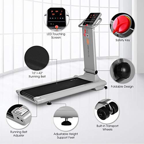 Goplus 1.5HP Electric Folding Treadmill Portable Motorized Running Machine Home Gym Cardio Fitness w/App (Silver) by Goplus (Image #1)