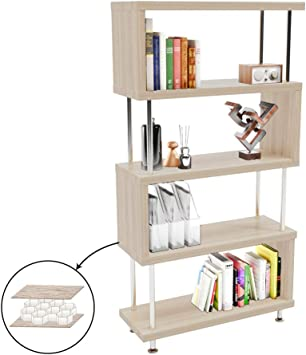 4-Shelf Bookcase Home Bookshelf Book Storage Office Furniture Living Room Decor
