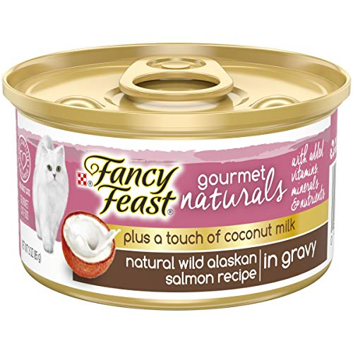 Purina Fancy Feast Natural Gravy Wet Cat Food; Gourmet Naturals Plus Coconut Milk Wild Alaskan Salmon Recipe - 3 oz. ()