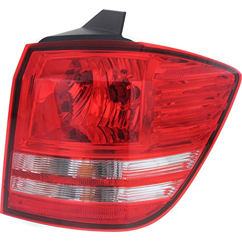 Tail Light for JOURNEY 09-17 Right Side Outer Assembly Halogen w/Turn Signal Light Bulb