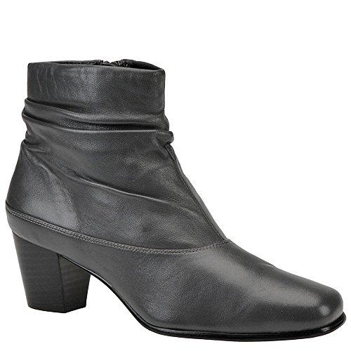 Leather Platforms Lambskin (David Tate Womens Vera Boot,Grey Leather,11W)