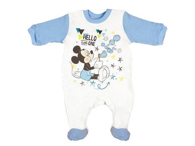 Disney - Mickey Mouse Pelele - para bebé niño Weiss mit Blau 56 cm: Amazon.es: Ropa y accesorios