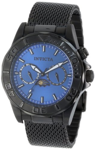 Invicta Men's 10603 Pro Diver Sea Wizard III Blue Dial Black Ion-Plated Stainless Steel Watch