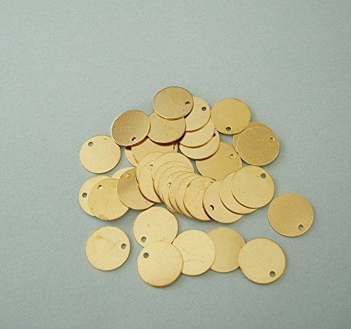 BeadsTreasure Flat Round Disk Brass Stamping Pendant Jewelry Findings.