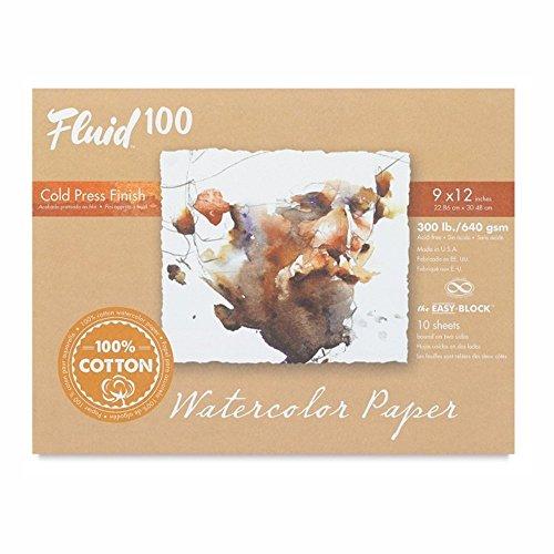 300 Lb Cold Press - Handbook Paper Fluid 100 Watercolor Cp 300Lb Ez-Block 9X12