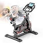 ZoSiP-Spin-Bike-Ultra-Silenzioso-Sport-Magnetica-Cyclette-for-Uso-Domestico-al-Coperto-Biciclette-dimagrisce-apparecchiatura-Color-Black-Size-105x50x102cm