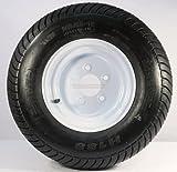 Kenda Loadstar 205/65-10 LRE 10 PR Bias Trailer Tire on 10'' 5 Lug White Steel Trailer Wheel
