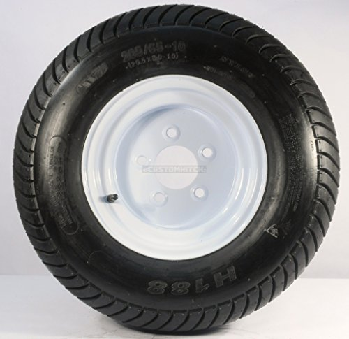 Kenda Loadstar 205/65-10 LRE 10 PR Bias Trailer Tire on 10'' 5 Lug White Steel Trailer Wheel by Kenda Loadstar (Image #3)