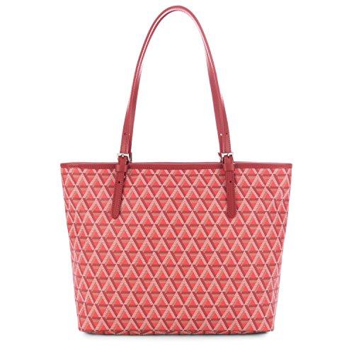 196e0f67bd52c Lancaster Tasche Ikon Tote Bag 418-03-ROUGE Damen Ledertasche Handtasche  Shopper Schultertasche Rot