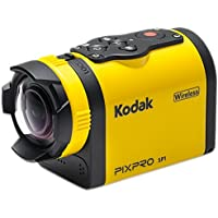 Kodak PIXPRO SP1 Action Cam with Aqua Sport Pack 14 MP Waterproof, Full HD 1080p Video, Digital Camera and 1.5 LCD Screen (Yellow)